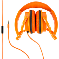 Polaroid PHP8360 Foldable Headphones w/built in microphone - Orange