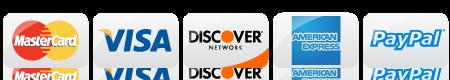 Credit Card: Visa, M/C, Discover, AMEX