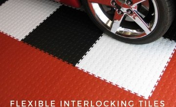 Flexible Interlocking Tiles Many Patterns and Colors
