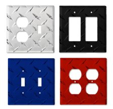 Diamond Plate Aluminum Switch Covers And Electrical Outlet