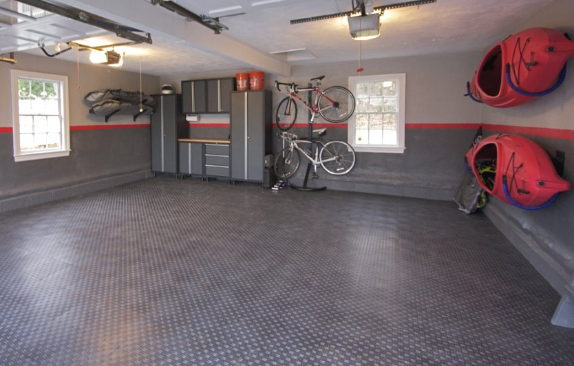 Garage floor tiles marque diamond pattern locking garage Two floor garage