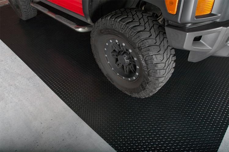 covering g floor diamond parking pad