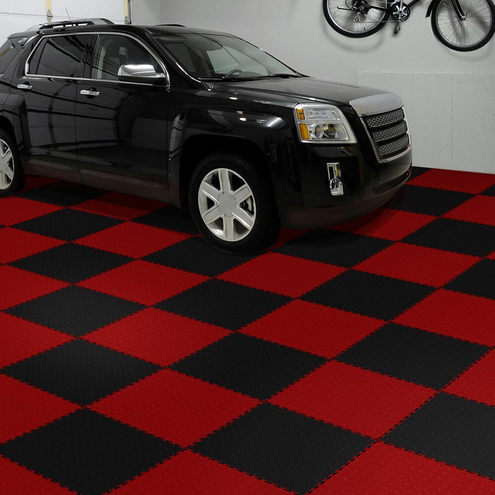 Perfection floor coin pattern interlocking flexible tiles flexi perfection floor tile coin garage flooring dailygadgetfo Choice Image
