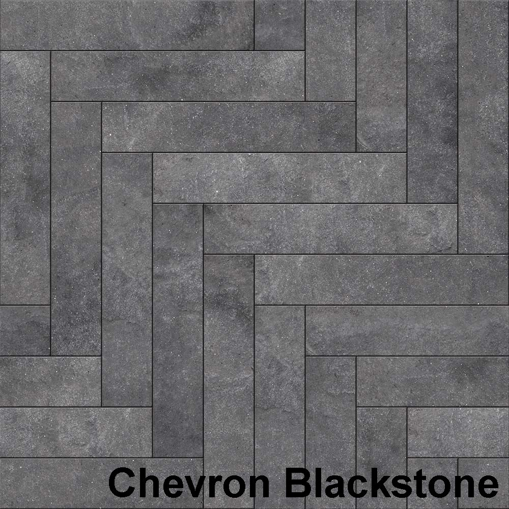 Perfection Floor Tile Master Mosaic Chevron Blackstone
