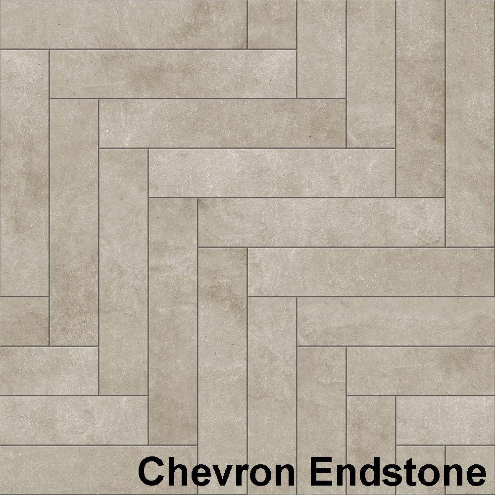 Perfection Floor Tile Master Mosaic Chevron Endstone