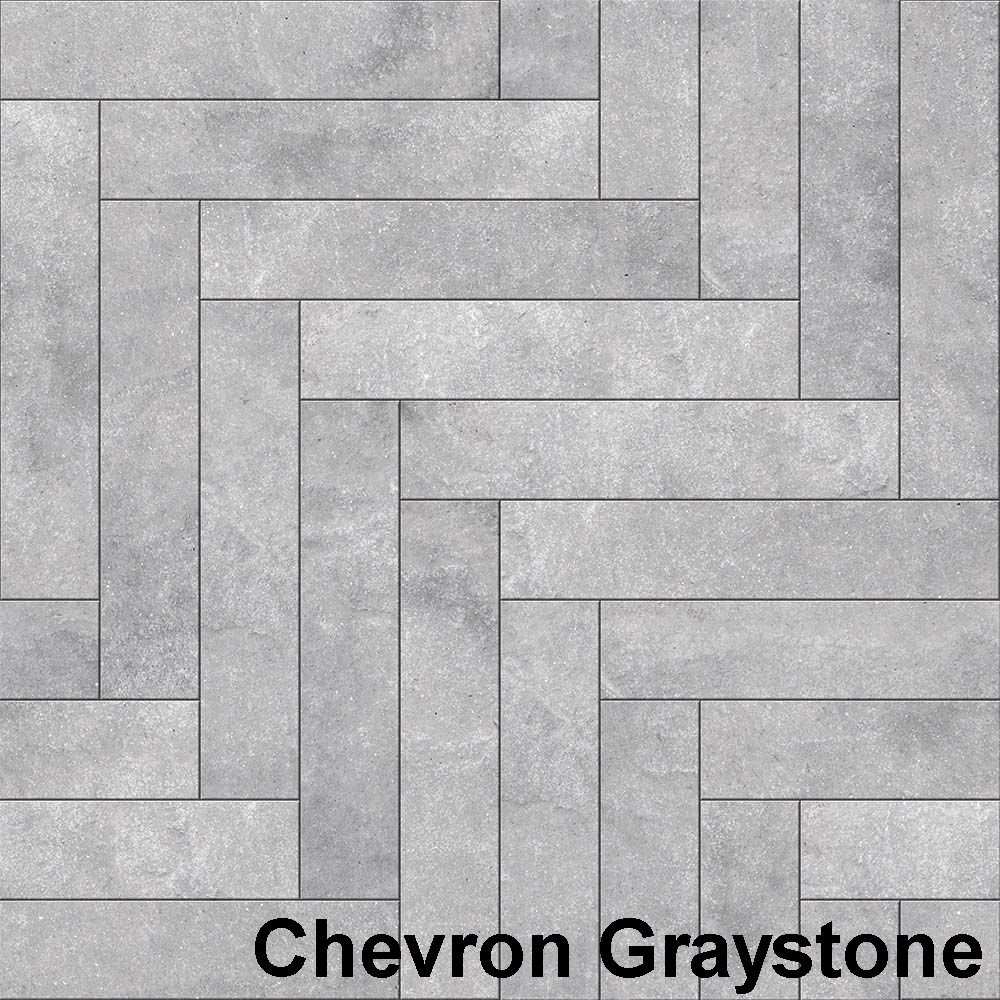 Perfection Floor Tile Master Mosaic Chevron Graystone