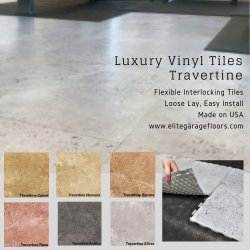 Perfection Floor Tile Luxury Vinyl Travertine Style
