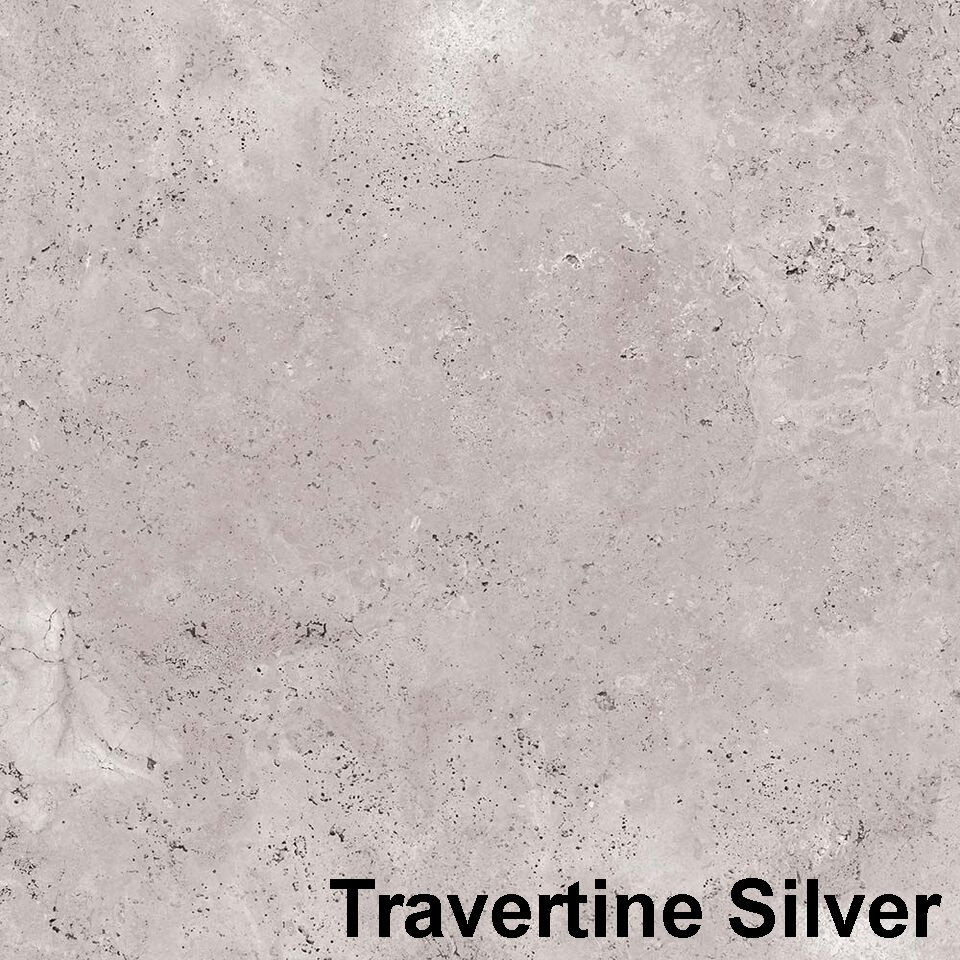 Perfection Floor Tile Travertine Silver