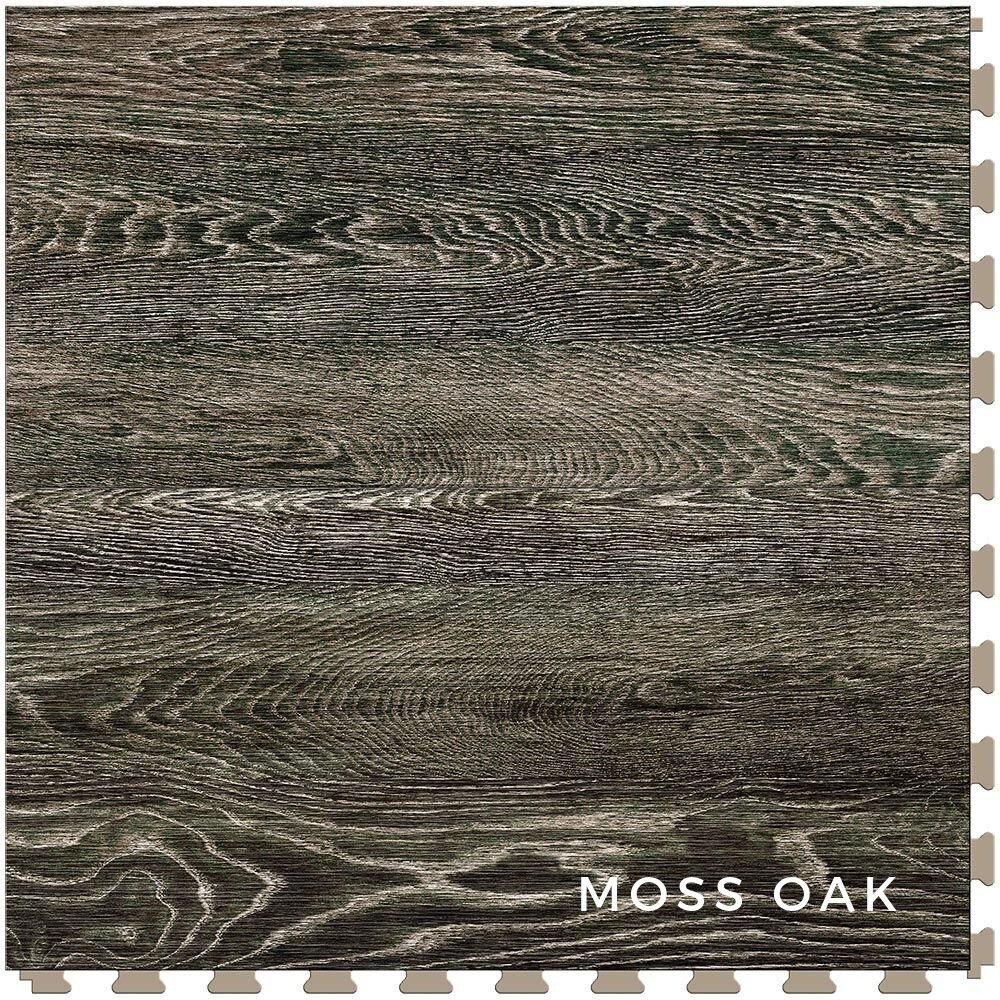 Perfection Floor Tile Vintage Wood Moss Oak