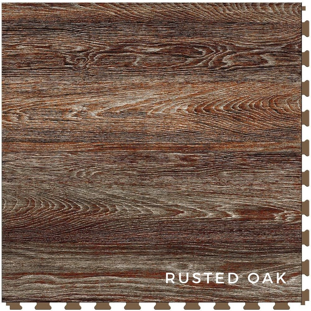 Perfection Floor Tile Vintage Wood Rusted Oak