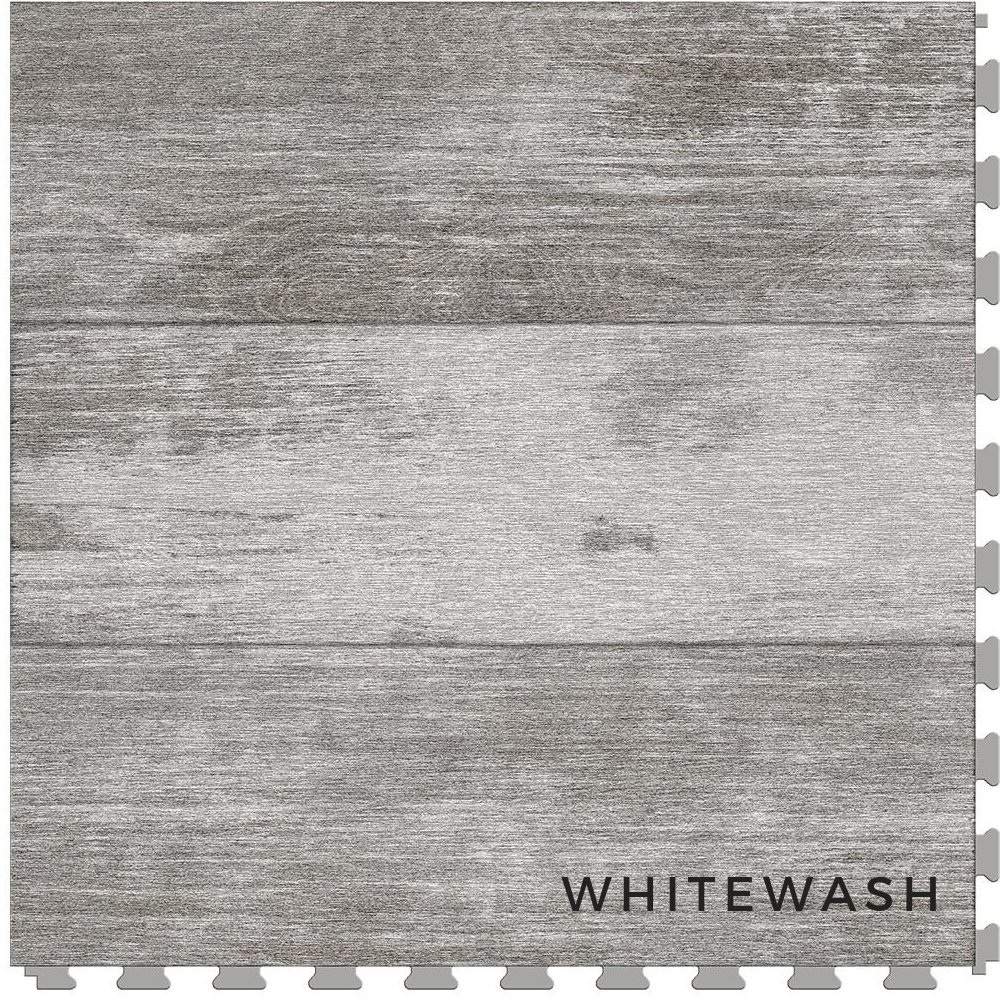 Perfection Floor Tile Vintage Wood White Wash
