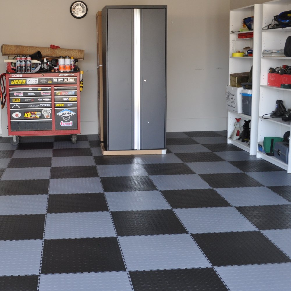 Perfection floor coin pattern interlocking flexible tiles flexi perfection floor tile coin garage floor dailygadgetfo Images