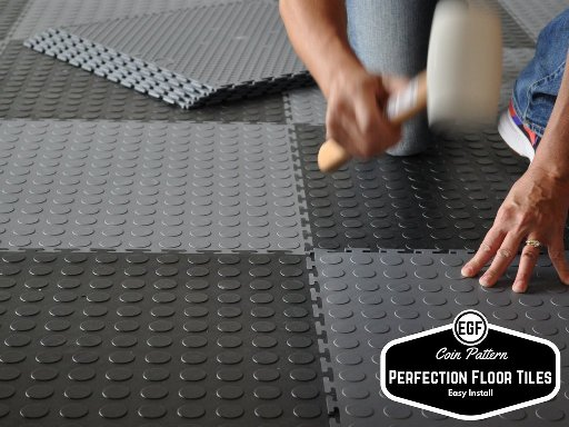 Perfection Floor Coin Pattern Interlocking Flexible Tiles Flexi - Mate flex flooring