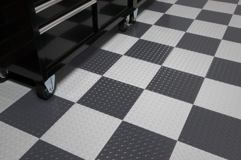 RaceDay Peel And Stick Self Adhesive Floor Tiles By G Floor - Peel and stick rubber floor tiles