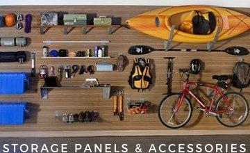 StorWall Slat Wall Panels, Shelves, Hooks