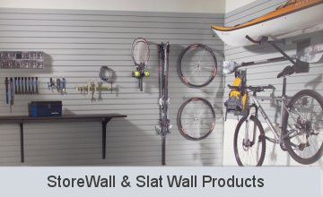 StorWall Slat Wall Panesl and Accessories