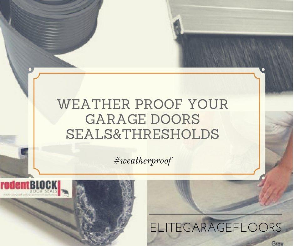 Garage Door Thresholds and Seals