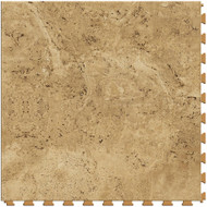 Perfection Floor Tile Natural Stone Travertine Camel, flexible interlocking tiles.