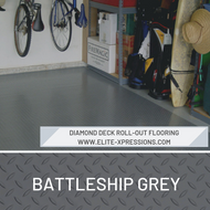 Diamond Deck Rollout Flooring 2.9mm Overall Thickness - available colors: Battleship Grey & Silver