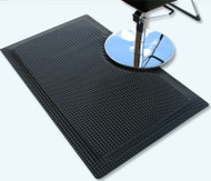 Reflex Rectangle Anti-Fatigue Salon Mat in Black
