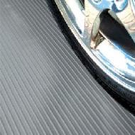 G-Floor Ribbed Pattern Vinyl Rollout Flooring in Slate Grey