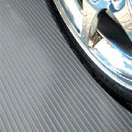 G-Floor Rollout Flooring in the Ribbed pattern Slate Grey