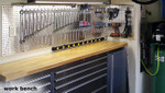 Peg Board X2 is a great accent for any work bench area.