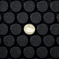 G Floor Small Coin Vinyl Roll Out Floor Covering Black