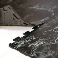 Perfection Floor Tile Natural Stone Black Marble, flexible interlocking tiles.