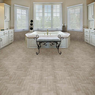 Perfection Floor Natural Stone Tile Chevron Endstone - Scene Shot