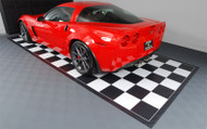 G Floor Checker Pattern Parking Mat with Black Boarder