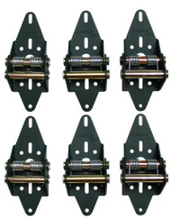 Green Hinge System, comes with 6 hinges.  For garage door with 4 panels.