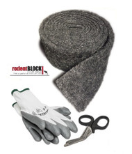 Xcluder Rodent Block Kit, includes Fill Material 10' L, Gloves and Sheers