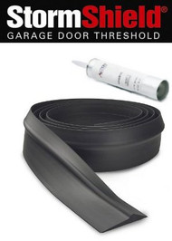 Storm Shield Garage Door Threshold, 100' Roll with 5 Tubes Adhesive