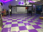 "Xtreme Diamond Rigid Interlocking Tiles 12"" x 12"", Purple and Alloy"