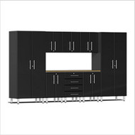 Ulti-MATE Garage 2.0 Series 9-Piece Kit Worktop Black