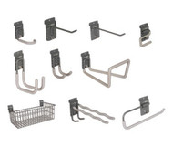 StoreWall 10 Piece Kit, Hooks and Basket