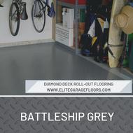 Diamond Deck Roll-Out Flooring 2.9 mm Overall Thickness - Battleship Grey