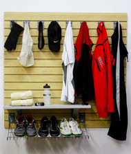 StoreWall Mud Room Storage Kit with Heavy Duty Panels and Accessories