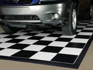 G Floor Checker Pattern Parking Mat with Black Border