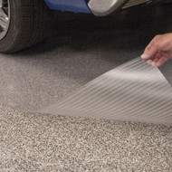 G Floor Vinyl Parking Pad Ribbed Clear