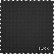 Perfection Floor Tile Recycled Material  - Black