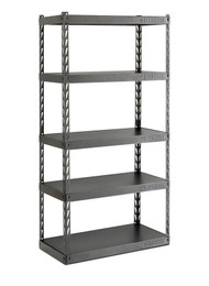 """Gladiator 36"""" Wide EZ Connect Rack with Five 18"""" Deep Shelves"""