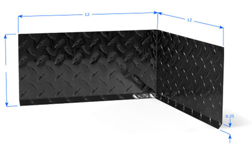 2 Quot High Diamond Plate Color Premolded Inside Corner Black