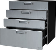 "30"" Quadro includes (3) 6"" Drawers, and (1) 12"" Drawer.  No Assembly Required Hercke"