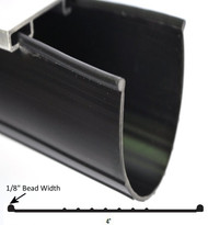 "Wayne Dalton P End Vinyl Garage Weather Seal Replacement Material 4""W"