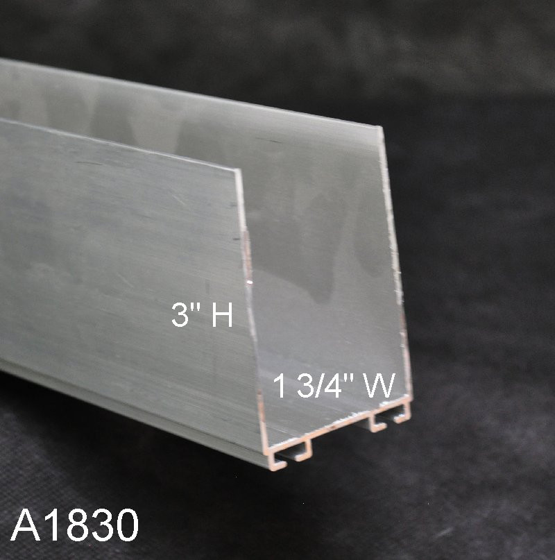 Aluminum Garage Door Bottom Seal Retainer A1830 01 W