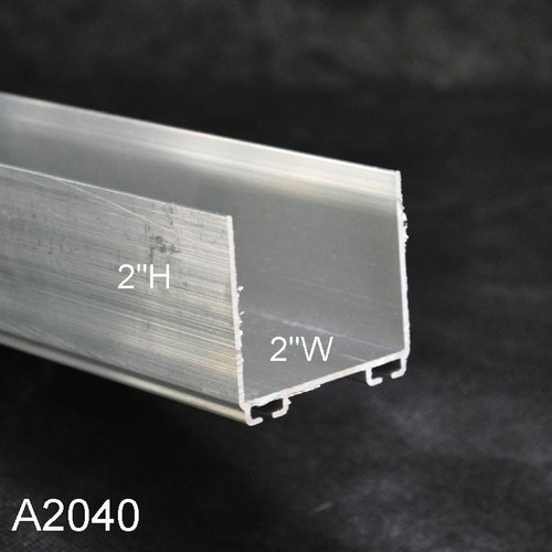 Aluminum Garage Door Bottom Seal Retainer A2040