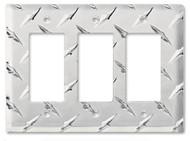Diamond Plate Aluminum Tripple GFI