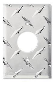 Diamond Plate Aluminum 120 Volt Round Plug